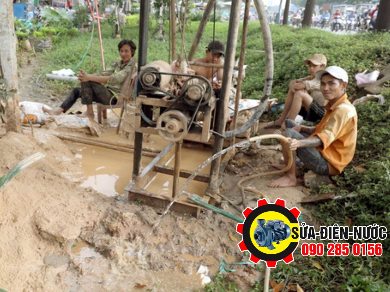 Thợ Khoan Giếng Nước Tại Huyện Bình Chánh phục vụ 24/7